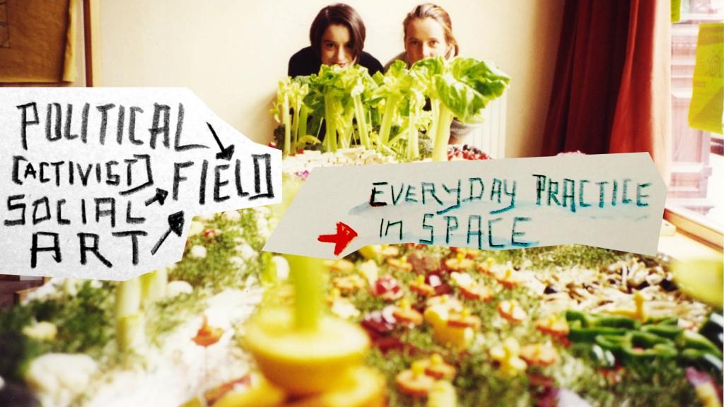 Salatbar in Form eines Parks, Anja, Katrin, 1996