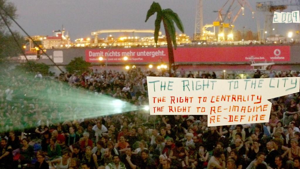 eine inoffizielle Gründungsversammlung der Recht auf Stadt Bewegung Hamburg, 2009